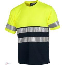 Camiseta Combinada Alta Visibilidad WORKTEAM C3941