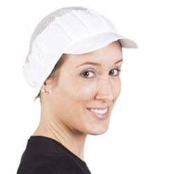 Cofia Mujer Hostelería Visera Rígida (PACK 10 UND) 422