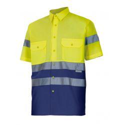 Camisa de Trabajo de Manga Corta Alta Visibilidad 142