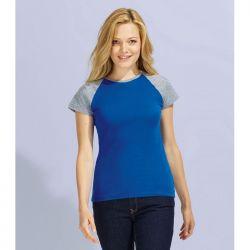 Camiseta Mujer Combinada Contraste SOL'S MILKY