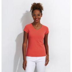 Camiseta Cuello de Pico Mujer SOL´S MOON