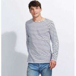 Camiseta de Rayas Marinero Hombre SOL'S MARINE MEN