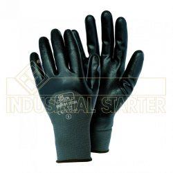 Pack (12 PRS) Guante Nylon Revestido Nitrilo ISSA LINE OIL CATCH 07288