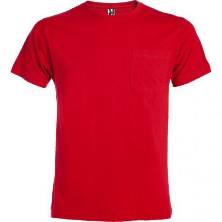 Camiseta Cuello Redondo con Bolsillo Hombre ROLY TECKEL