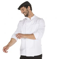Chaqueta Cocinero Sarga Blanca Manga Larga GARY'S 910