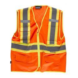 Chaleco de Trabajo Alta Visibilidad WORKTEAM C3621