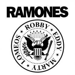 Logo en SUBLIMACION RAMONES de 20 cm x 20 cm
