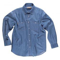 Camisa Manga Larga Vaquera de Trabajo WORKTEAM B8700