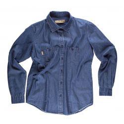Camisa Manga Larga Vaquera de Trabajo Mujer WORKTEAM B8790