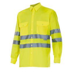 Camisa de Trabajo de Manga Larga Alta Visibilidad VELILLA 143