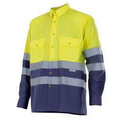 Camisa de Trabajo de Manga Larga Alta Visibilidad VELILLA 144