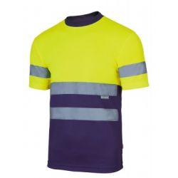 Camiseta Técnica Bicolor Alta Visibilidad VELILLA 305506