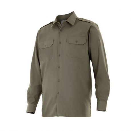 Camisa Manga Larga de Hombre con Galoneras VELILLA 530
