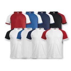Camiseta Bicolor 100% Algodón RAGLAN-T CLIQUE