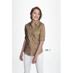 Camisa de Mujer Popelina Lavada 100% Algodón SOL'S BURMA WOMEN