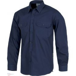 Camisa de Trabajo de Manga Larga con Bolsillos WORKTEAM B8200