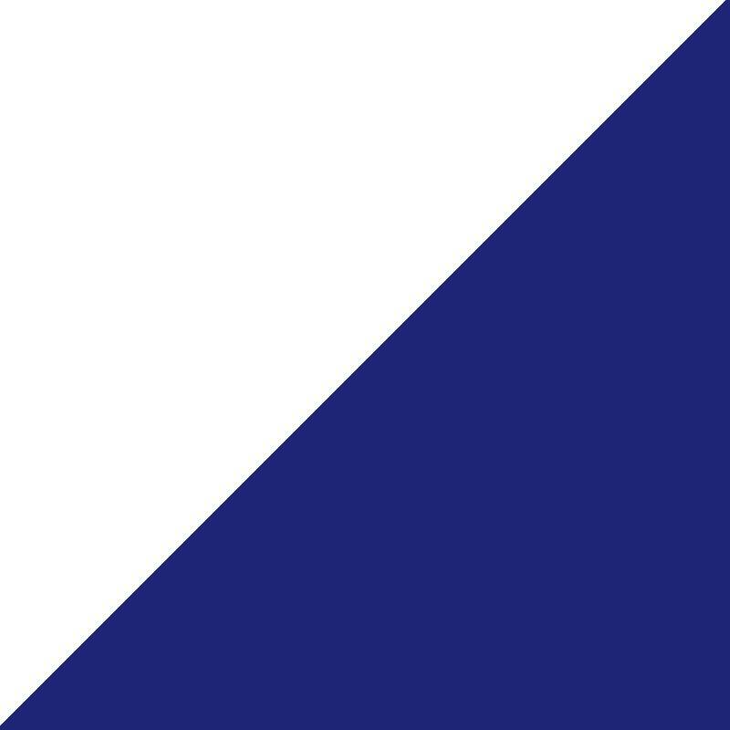 Blanco/Azul Profundo